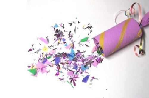 как делается хлопушка из бумаги