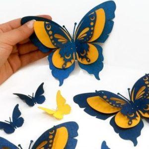 бабочка шаблон для аппликации