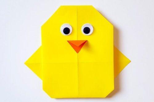 оригами птичка из бумаги для детей