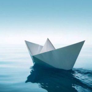 корабль из бумаги схема