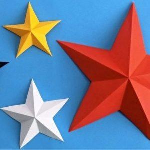 звезда объемная из бумаги своими руками