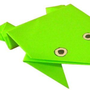 как делать лягушку из бумаги