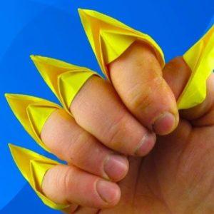 оригами из бумаги когти