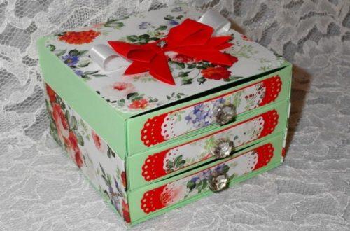 Сделать шкатулку своими руками из старой коробки